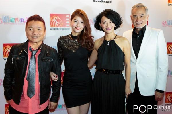 ScreenSingapore 2012 The Wedding Diary 2 Red Carpet - Cynthia Wang, Marcus Chin, Zhu Houren & Kara Wai