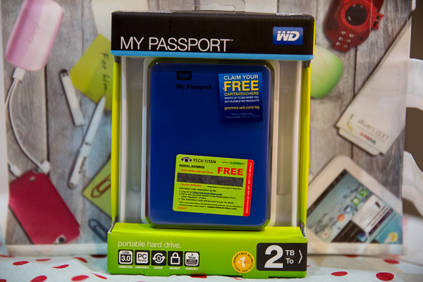 Western Digital My Passport 2TB External USB3 Hard Disk