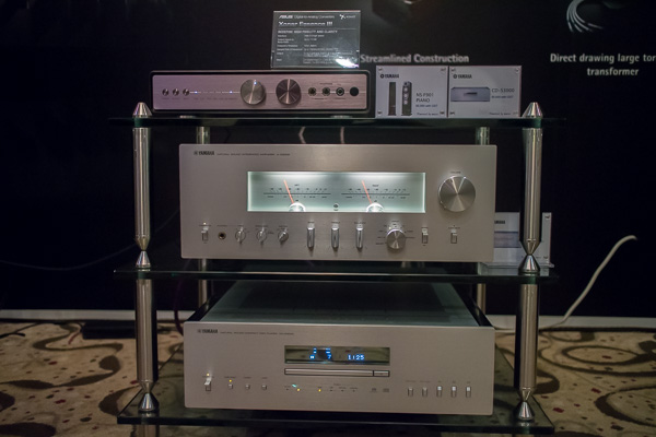 Yamaha A-S3000 integrated amplifier CD-S3000 CD player Asus Essence III