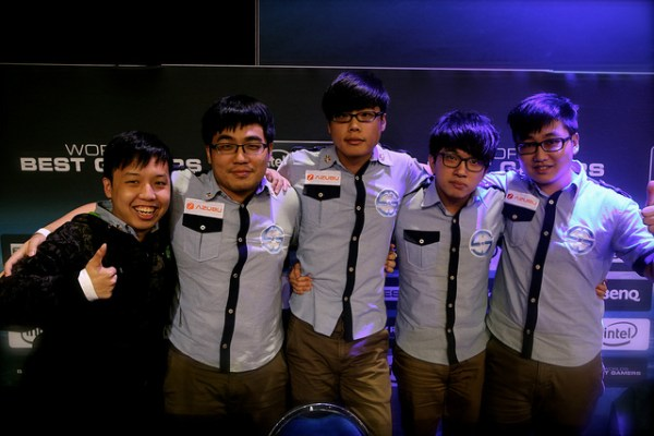 Intel Extreme Masters Singapore Day 2 - Taipei Snipers after their win against the Singapore Sentinels