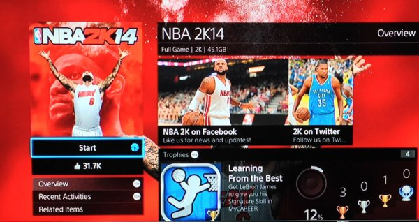 Unboxing The Playstation 4 The Review NBA2K14 Screen