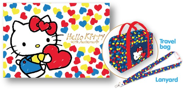 Hello Kitty 40th Anniversary Celebration MyStamp Folder Set