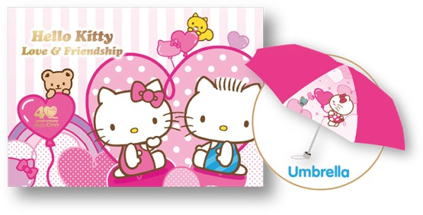 Hello Kitty Love and Friendship MyStamp Folder Set