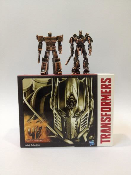 Miniature 2-inch Optimus Prime Then & Now metal figures