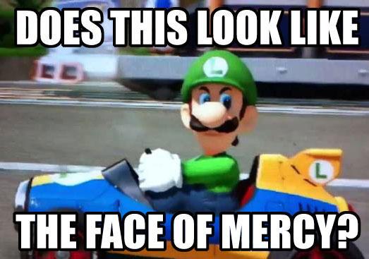 Mario Kart 8 Luigi Death Stare Meme