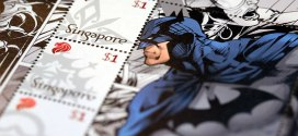 SingPost DC Comics Justice League & Batman 75th Anniversary MyStamp Collection Batman Stamps Close Up