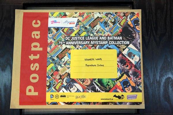 SingPost DC Comics Justice League & Batman 75th Anniversary MyStamp Collection Postpac