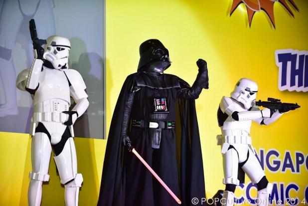 STGCC 2014 Cosplay Runway Star Wars Darth Vader Stormtroppers