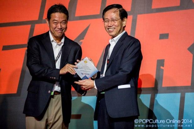 GameStart 2014 - Mr Hiroyuki Oda SCEJA Mr Chan Lee Mun NYP