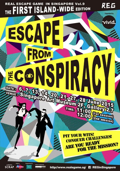 Real Escape Game Escape From The Conspiracy Poster