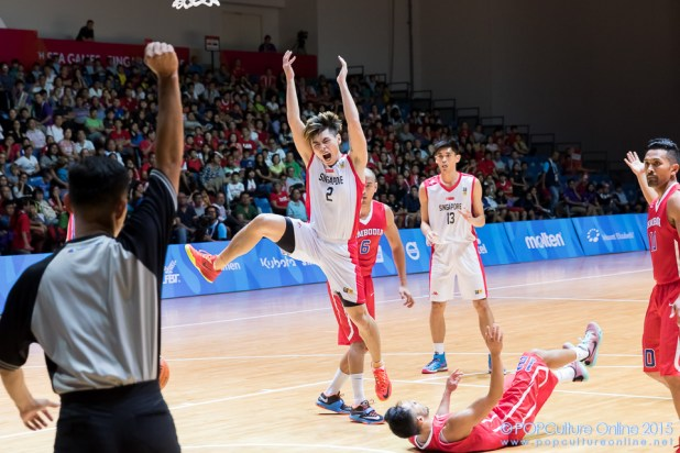 SEA Games 2015 Basketball Men Preliminary Round Group B Game 9 Singapore Cambodia OCBC Arena Hall 1