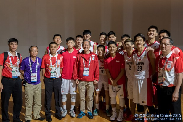 SEA Games 2015 Basketball Men Preliminary Round Group B Game 9 Singapore Team OCBC Arena Hall 1