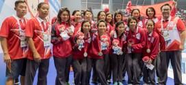 SEA Games 2015 Women Water Polo Final Singapore OCBC Aquatic Centre Silver Medal