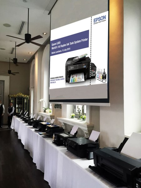 Epson's full range of L-Series ink tank system printers