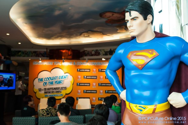 STGCC 2015 Media Preview Superman DC Comics Super Heroes Cafe