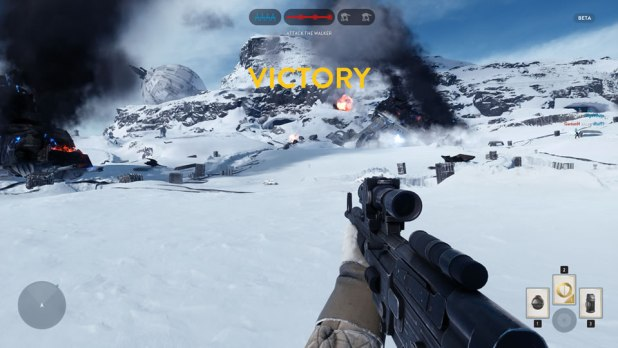 Star Wars Battlefront Beta Walker Assault Rebel Victory