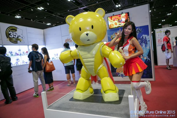 Anime Festival Asia Singapore AFASG 2015 Bandai Namco Booth Bearguy Booth Babe