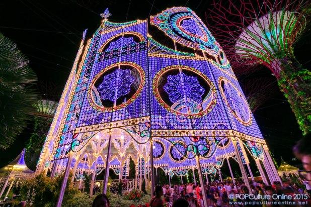 Christmas Wonderland Gardens by the Bay 2015 Luminarie Light Sculptures Spalliera