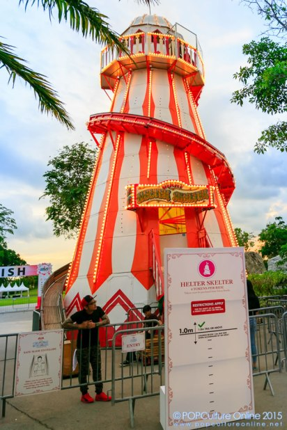 Christmas Wonderland Gardens by the Bay 2015 The Fairground Helter Skelter