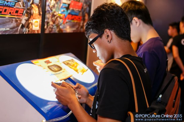 GameStart 2015 Bandai Namco Entertainment Asia Booth Mobile Suit Gundam Extreme VS Force