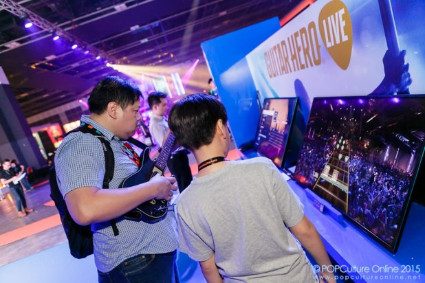GameStart 2015 PlayStation Booth Experience Guitar Hero Live