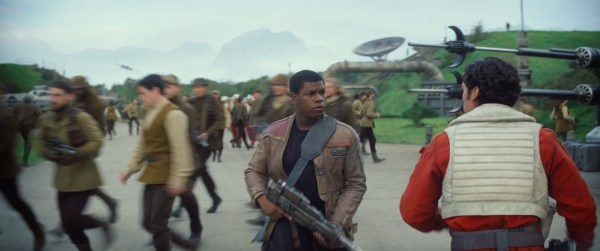 Star Wars: The Force Awakens L to R: Finn (John Boyega) and Poe Dameron (Oscar Isaac) Ph: Film Frame © 2014 Lucasfilm Ltd. & TM. All Right Reserved..