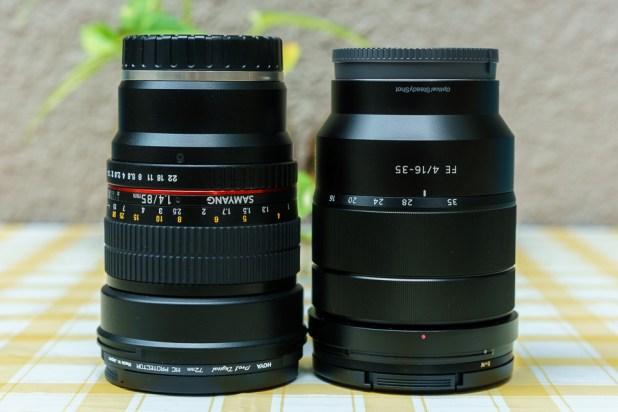 Samyang 85mm F1.4 AS IF UMC FE Mount vs Sony 16-35mm f2.8 ZA SSM II Vario-Sonnar Lens