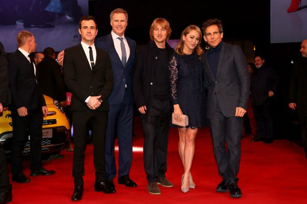 ROME, ITALY - JANUARY 30:  (L-R) Justin Theroux , Will Ferrell, Owen Wilson, Ben Stiller and Christine Taylor attend the Fan Screening of the Paramount Pictures film 'Zoolander No. 2' at 'Hotel De Russie Garden' on January 30, 2016 in Rome, Italy.  (Photo by Ernesto Ruscio/Getty Images for  for Paramount Pictures) *** Local Caption *** Will Ferrell; Owen Wilson; Ben Stiller; Justin Theroux; Christine Taylor