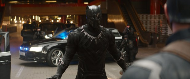 Marvel's Captain America: Civil War..Black Panther/T'Challa (Chadwick Boseman)..Photo Credit: Film Frame..© Marvel 2016