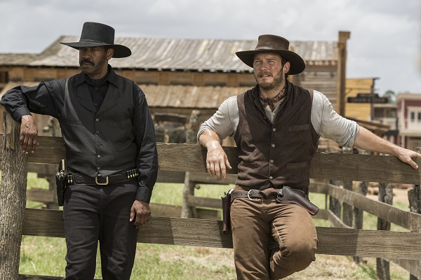 Denzel Washington and Chris Pratt star in MGM and  Columbia Pictures' THE MAGNIFICENT SEVEN.
