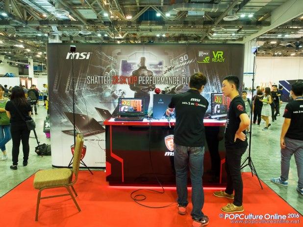 STGCC 2016 MSI VR Ready Booth HTC Vive