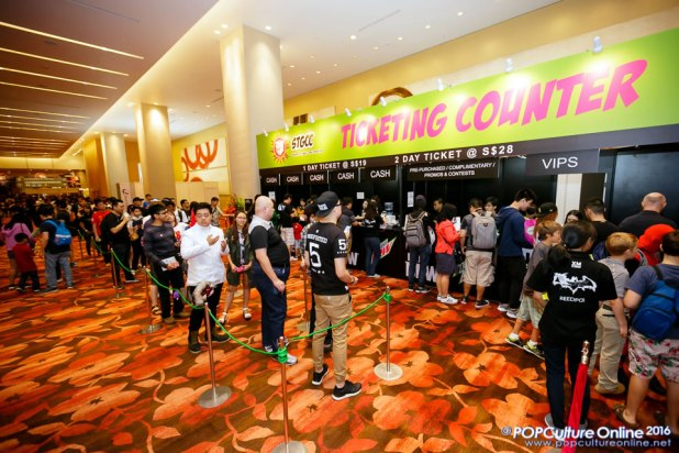 STGCC 2016 Marina Bay Sands Ticketing Booth