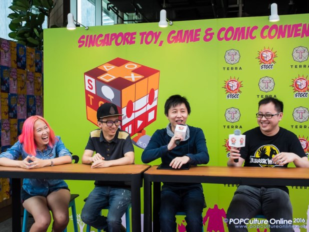 STGCC 2016 Media Preview Rachta Lin Daniel Yu Andy Choo Andimoo Studios Xuan Ming Xmashed Gear