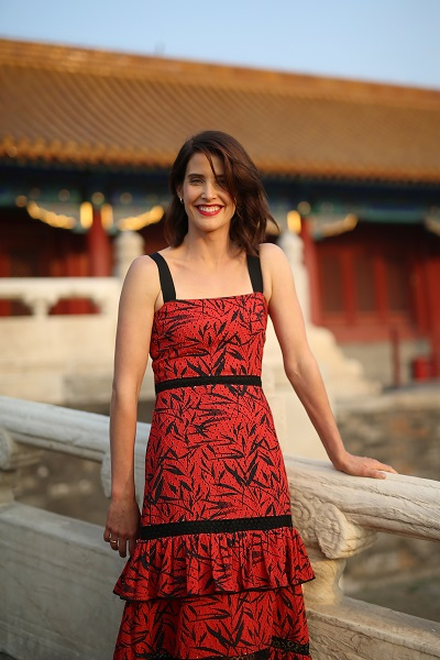 "BEIJING, CHINA - OCTOBER 11: Cobie Smulders visits the Forbidden City during the promotional tour of the Paramount Pictures title ""Jack Reacher: Never Go Back"", on October 11, 2016 in Beijing, China. (Photo by Emmanuel Wong/Getty Images for Paramount Pictures) *** Local Caption *** Cobie Smulders"