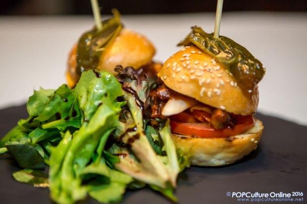 Caffe B Bar Bites Beef Tripe Burger