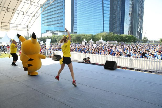 Pokémon Run Singapore 2017 Pikachu Warm-up