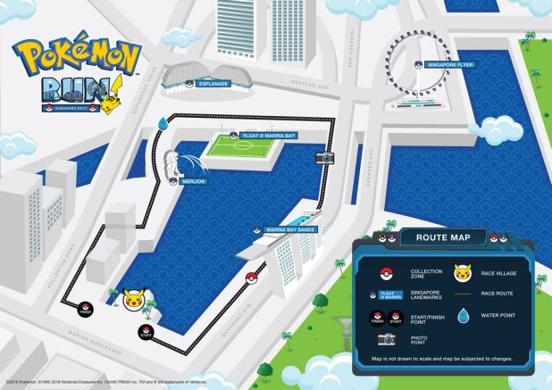 Pokemon Run Singapore 2017 Route Map