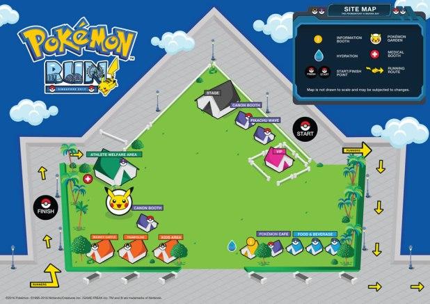 Pokemon Run Singapore 2017 Site Map
