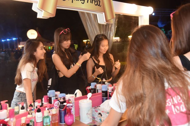 Siloso Beach Party (SBP) 2016 - Kao Ladies only pampering booth
