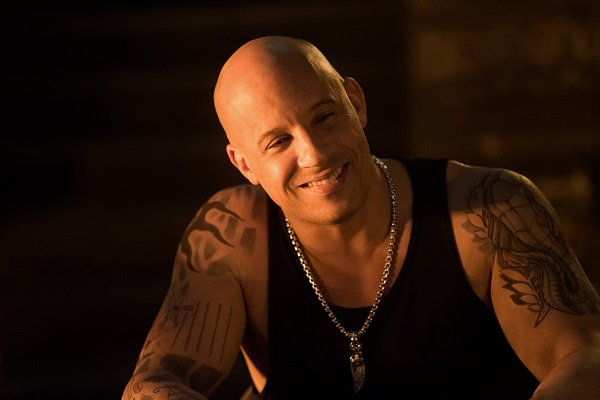 Vin Diesel as Xander Cage in xXx: RETURN OF XANDER CAGE by Paramount Pictures and Revolution Studios
