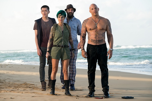 (L-R) Kris Wu as Nicks, Ruby Rose as Adele Yusef, Rory McCann as Tennyson, and Vin Diesel as Xander Cage in xXx: RETURN OF XANDER CAGE by Paramount Pictures and Revolution Studios