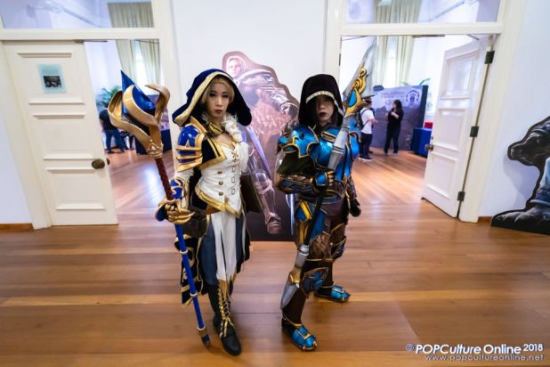 World of Warcraft Battle for Azeroth Pre-launch Party Singapore Jaina Hunter Cosplay