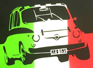 Tricolour Abarth detail2
