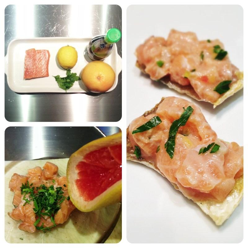 ceviche salmone pelle croccante