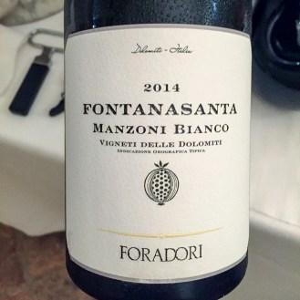 Manzoni Bianco Fontanasanta 2014 - Foradori