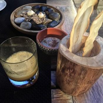 Chips di tapioca, maionese di soia