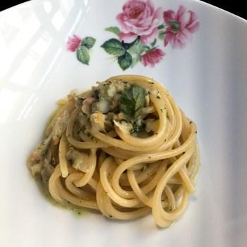 Spaghetti e arselle