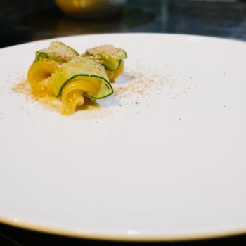 Stefano Terigi, Giglio - Pasta in acqua di pomodoro, cetriolo grigliato, noce moscata