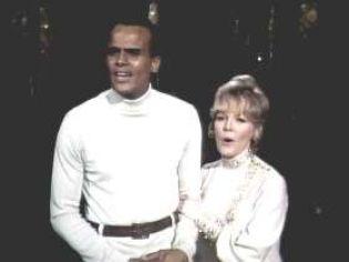 Belafonte and Clarke Interracial Touching TV