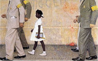 Norman Rockwell's painting of six year-old Ruby Bridges being escorted into a New Orleans school in 1960 was printed inside the January 14, 1964 edition of Look magazine.